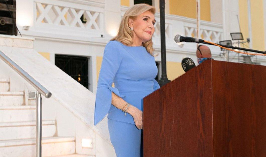 Επίτιμη Δημότης Σαλαμίνας ανακηρύχθηκε η Μαριάννα Β. Βαρδινογιάννη - Ο Δήμαρχος επέδωσε στην Πρόεδρο της Δημοκρατίας τιμητική πλακέτα ως ένδειξη τιμής στο πρόσωπό της κ. Βαρδινογιάννη - Κυρίως Φωτογραφία - Gallery - Video