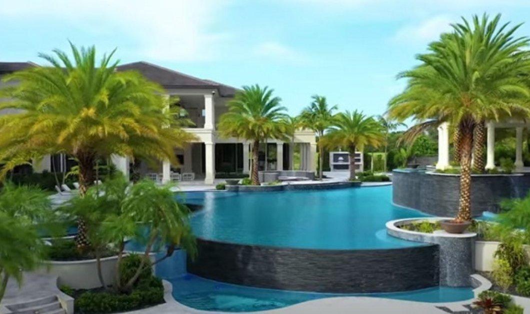 Μέσα σε μια απίστευτη βίλα 23 εκατ δολαρίων - εμπνευσμένη από χλιδάτο resort: Περιβάλλεται από λίμνη, έχει πισίνα με τροπικό design (βίντεο) - Κυρίως Φωτογραφία - Gallery - Video