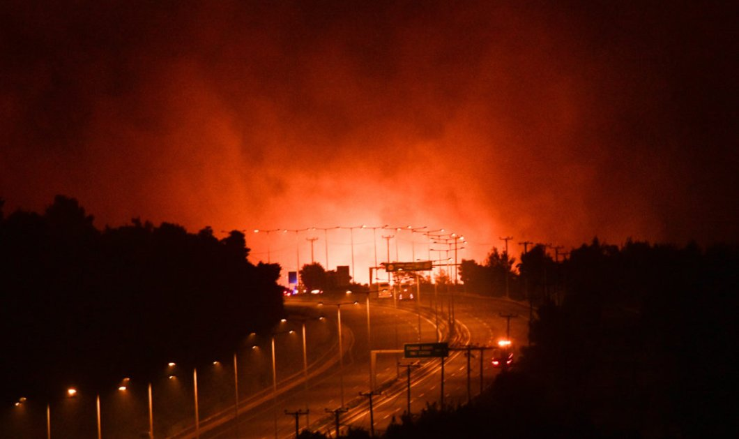 Πύρινη Κόλαση : Η φωτιά πέρασε στο Καπανδρίτι - Εκκενώνονται Άγιος Στέφανος -  Κρυονέρι (βίντεο)  - Κυρίως Φωτογραφία - Gallery - Video