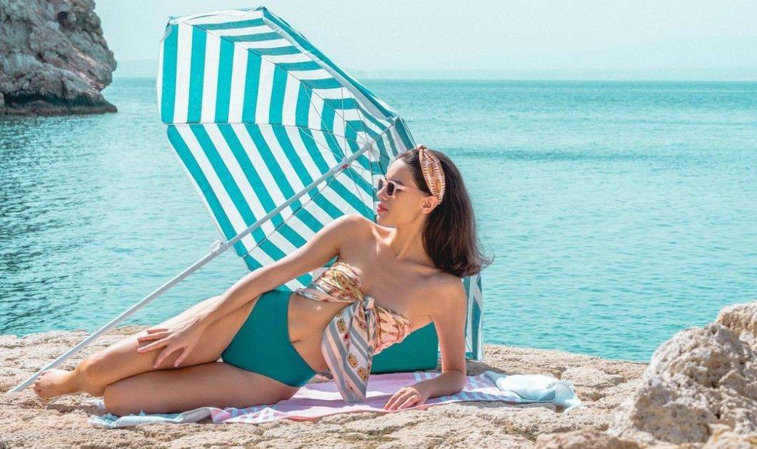 Made in Greece τα μεταξωτά μαντήλια Zografos: Η Έλενα Ζωγράφου εμπνέεται από το ελληνικό καλοκαίρι & το μπλε της θάλασσας   - Κυρίως Φωτογραφία - Gallery - Video