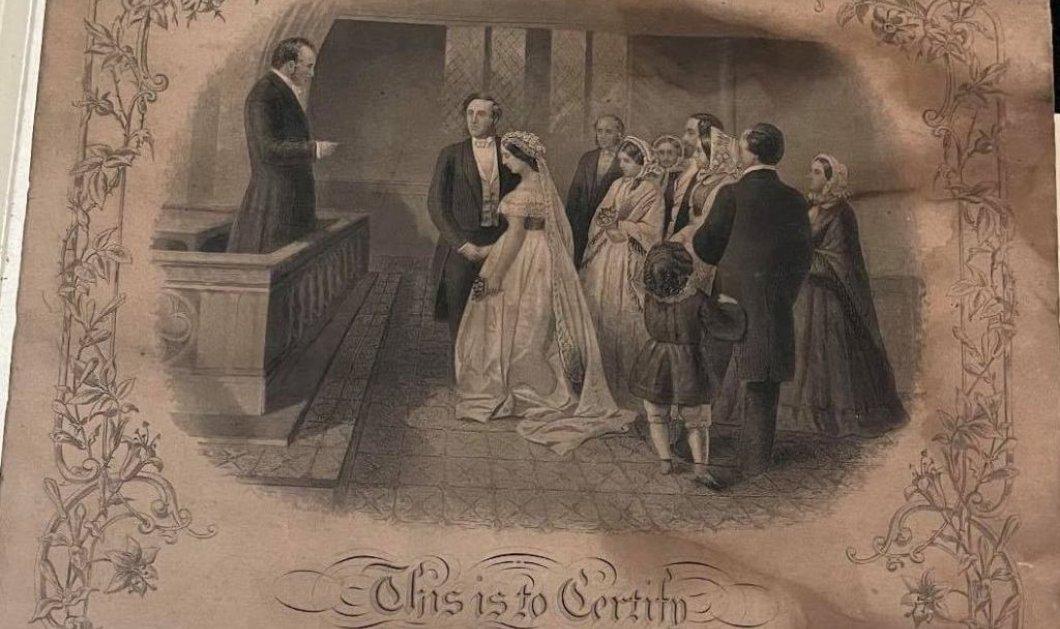 Story of the day: Πιστοποιητικό γάμου 150 ετών κρυμμένο σε κορνίζα - Τα μυστικά που έκρυβε & ο μαραθώνιος για να βρεθεί η δισέγγονη του ζευγαριού (φώτο) - Κυρίως Φωτογραφία - Gallery - Video