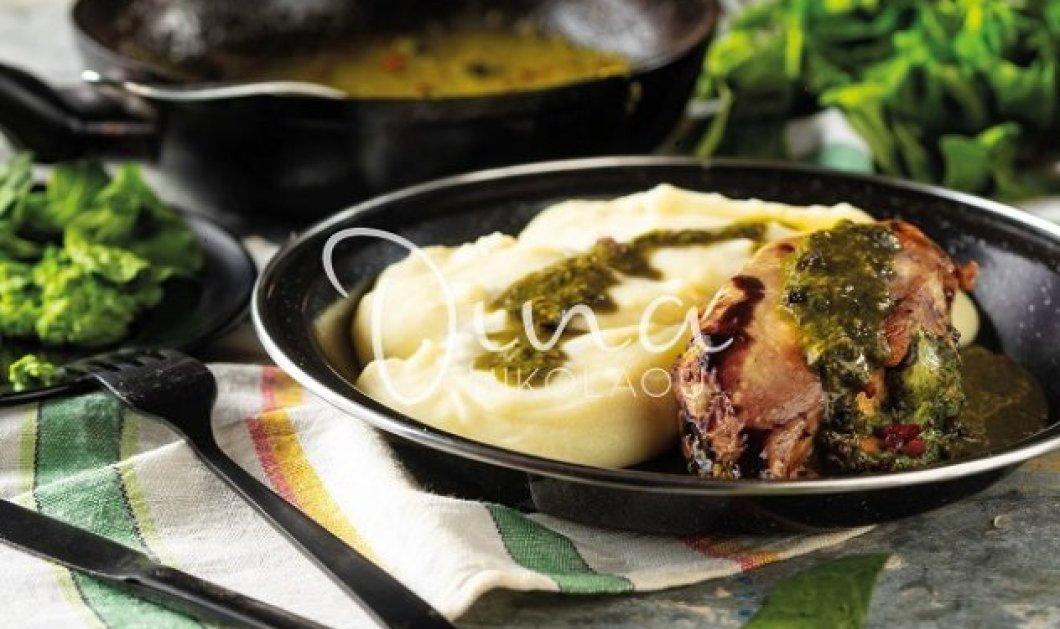 Η Ντίνα Νικολάου προτείνει κοτόπουλο γεμιστό με σπανάκι και γραβιέρα – Η γλυκόξινη σάλτσα που το συνοδεύει είναι η λεπτομέρεια που κάνει τη διαφορά - Κυρίως Φωτογραφία - Gallery - Video