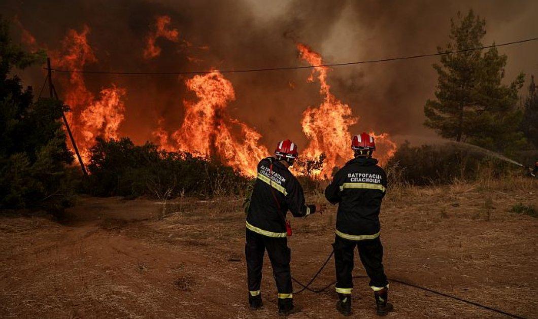 Πυρκαγιά στην Β. Εύβοια: Απειλούνται τα χωριά Γαλατσώνα, Αβγαριά, Ασμίνι - Κοντά στην Ιστιαία η φωτιά (φωτιά - βίντεο) - Κυρίως Φωτογραφία - Gallery - Video