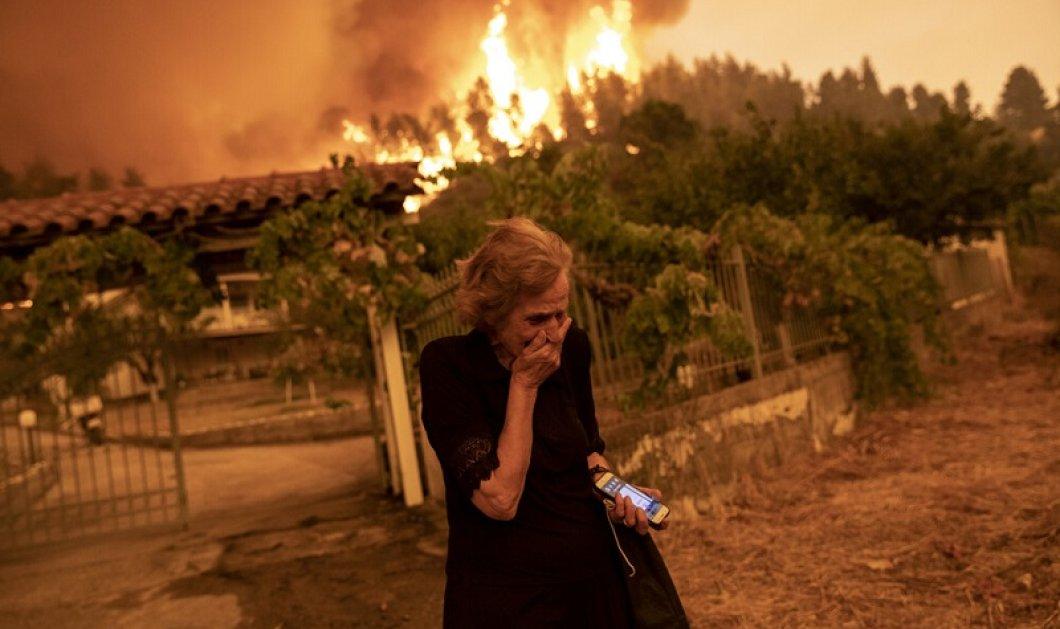 Σφραγίστηκε στη συλλογική μνήμη: Η γυναίκα που αποτυπώθηκε στο πρόσωπό της η τραγωδία στην Εύβοια - Το σύμβολο του πύρινου όλεθρου - Κυρίως Φωτογραφία - Gallery - Video