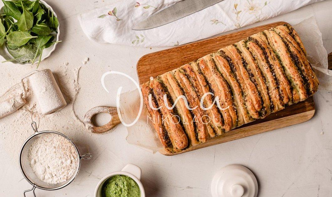 Ντίνα Νικολάου: Το απίθανο ψωμί με πέστο σπανακιού και φέτας – Μοσχομυρίζει ελληνικές γεύσεις - Κυρίως Φωτογραφία - Gallery - Video