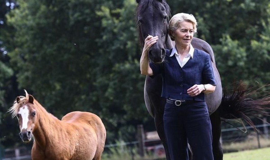 Ούρσουλα φον ντερ Λάιεν: Με τα άλογα οι διακοπές της πιο ισχυρής γυναίκας της Ευρωπαϊκής Ένωσης (φωτό) - Κυρίως Φωτογραφία - Gallery - Video