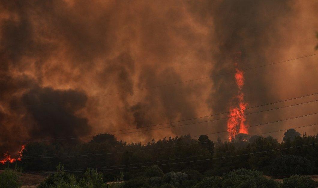 Πυρκαγιά στη Βαρυμπόμπη: Μήνυμα 112 για εκκένωση περιοχών - Πληροφορίες ότι δύο σπίτια παραδόθηκαν στις φλόγες - Εγκλωβίστηκε αστυνομικός (φώτο - βίντεο) - Κυρίως Φωτογραφία - Gallery - Video