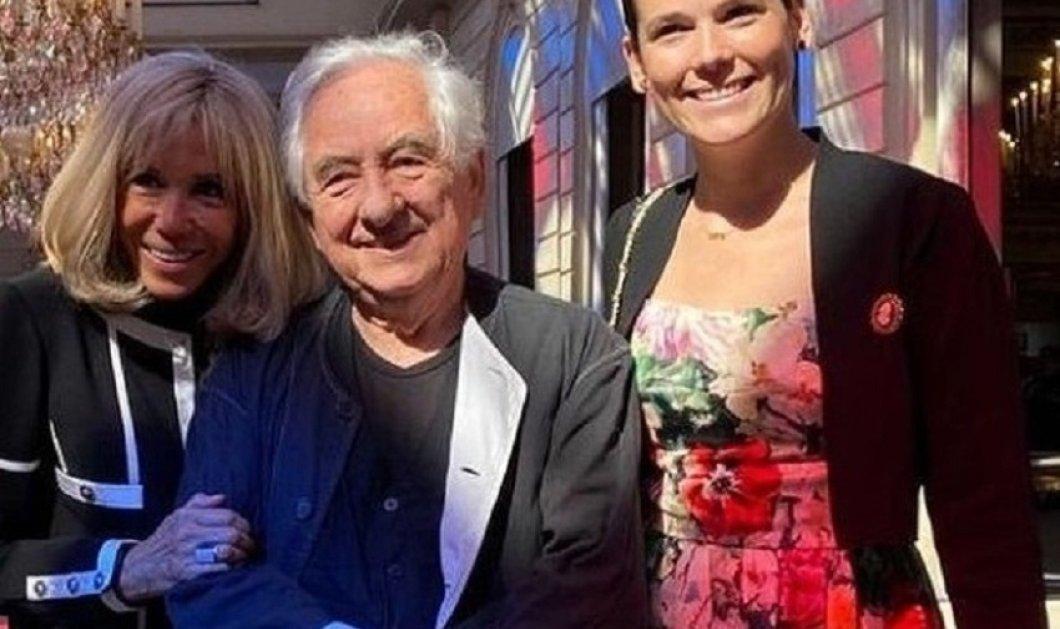 Εντυπωσιακός ο θόλος του διάσημου Daniel Buren για το παλάτι των Ηλυσίων - Το ζεύγος Μακρόν στα εγκαίνια του έργου (φώτο) - Κυρίως Φωτογραφία - Gallery - Video