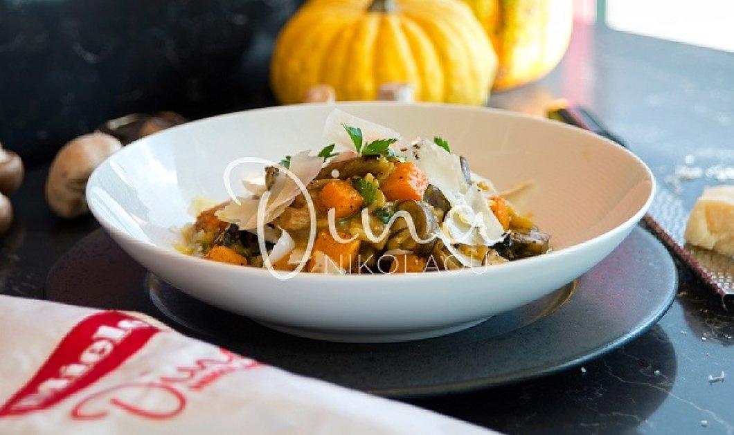 Ντίνα Νικολάου: Πεντανόστιμο ριζότο με κολοκύθα και μανιτάρια - θα γίνει το αγαπημένο σας πιάτο  - Κυρίως Φωτογραφία - Gallery - Video