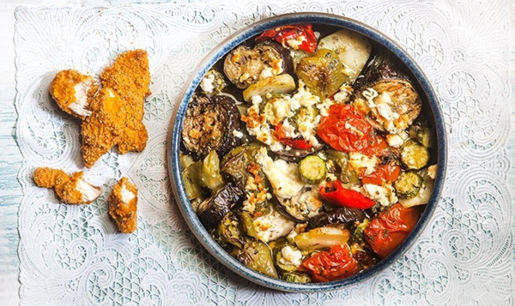 Αργυρώ Μπαρμπαρίγου: Αλλιώτικο μπριάμ στον φούρνο - Με φετα και κοτομπουκιές - Κυρίως Φωτογραφία - Gallery - Video