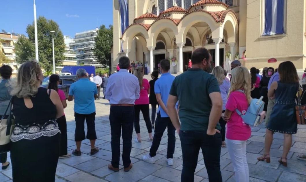 """Λιολιώ Κολυπέρα: Φίλοι & συγγενείς αποχαιρέτησαν με σπαραγμό ψυχής την Πρόεδρο του Συλλόγου """"Άλμα Ζωής"""" Αχαΐας - Φορούσαν όλοι ροζ μπλουζάκια (φωτό)  - Κυρίως Φωτογραφία - Gallery - Video"""