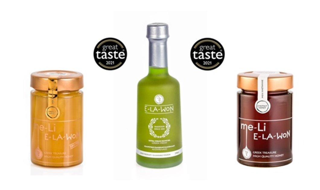 "Great Taste Awards 2021: Τέσσερα χρυσά αστέρια για τα προϊόντα της E-LA-WON στα ""Όσκαρ της γεύσης""  - Κυρίως Φωτογραφία - Gallery - Video"