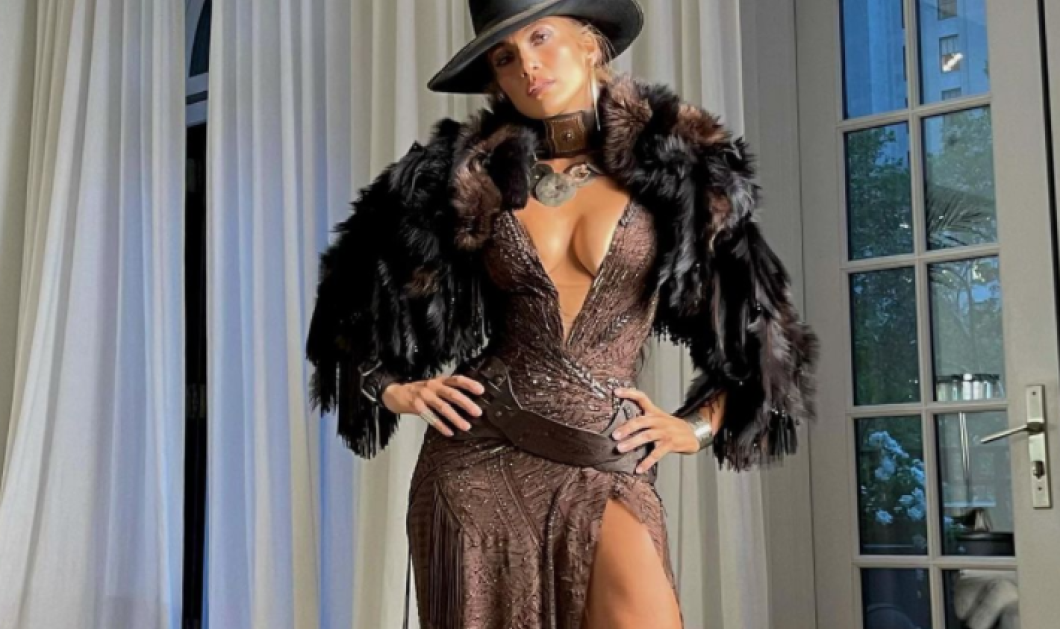 Η Jlo με τον Ben της στο Met Gala - Cowgirl με Ralph Lauren φόρεμα & γουναρικό στους ώμους (φωτό - βίντεο) - Κυρίως Φωτογραφία - Gallery - Video