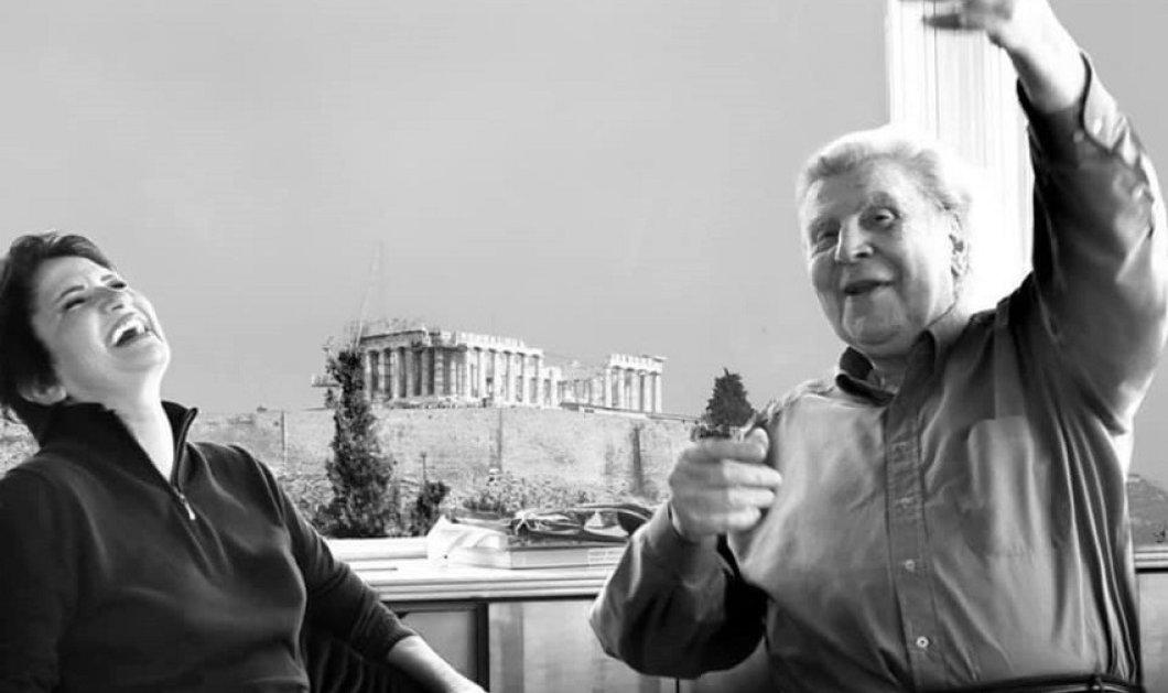 """Το συγκινητικό αντίο της Άλκηστης Πρωτοψάλτη στο Μίκη: """"Θα είσαι πάντα ορμητικό ποτάμι & θα ρέεις  σα γάργαρο νερό στην ψυχή μου"""" (φώτο)  - Κυρίως Φωτογραφία - Gallery - Video"""