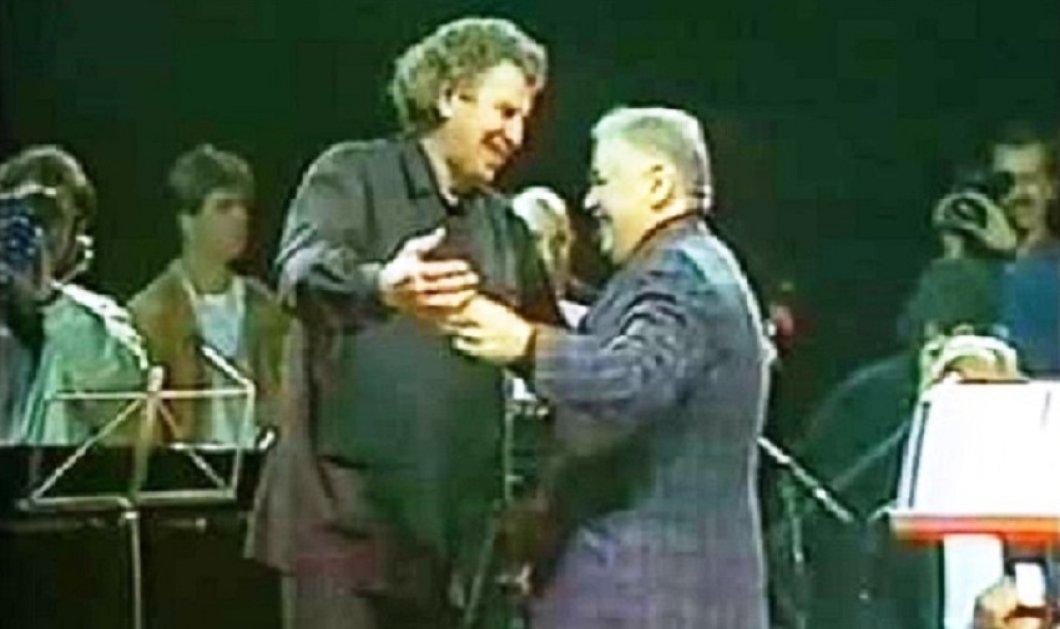 Σπάνιο ντοκουμέντο-1989 : Μίκης - Ξαρχάκος - Μάνος Χατζηδάκις μαζί στο Ολυμπιακό Στάδιο - Διώξε τη λύπη παλληκάρι τραγουδάει ο Θεοδωράκης (βίντεο) - Κυρίως Φωτογραφία - Gallery - Video