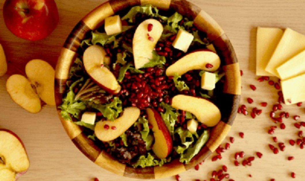 Δημήτρης Σκαρμούτσος: Σαλάτα καπριτσιόζα με μήλο και μοτσαρέλα - θα την απολαύσετε ως συνοδευτικό, αλλά & σαν γεύμα - Κυρίως Φωτογραφία - Gallery - Video