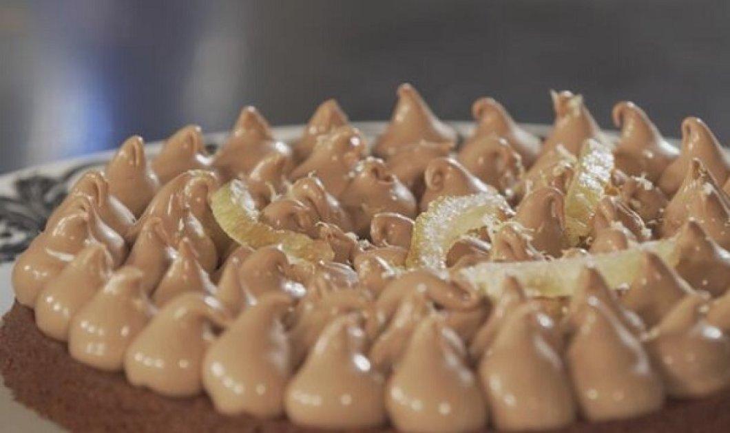 Στέλιος Παρλιάρος: Κρέμα namelaka - μια λαχταριστή τούρτα σοκολάτας γάλακτος με άρωμα λεμονιού - Κυρίως Φωτογραφία - Gallery - Video