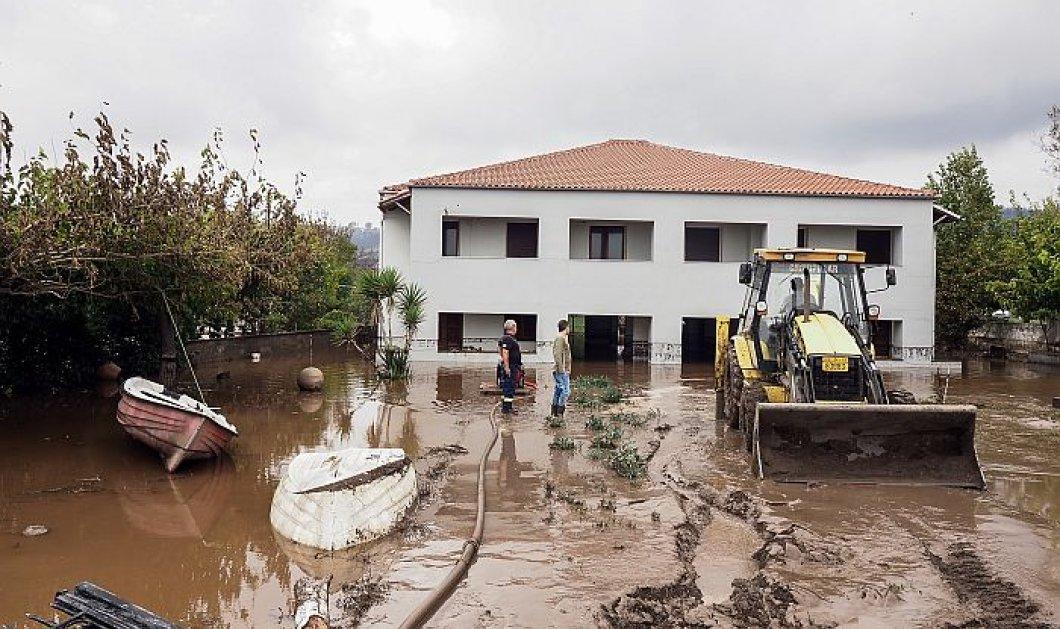 Κακοκαιρία ''Αθηνά'': Β. Εύβοια: Οι κάτοικοι μετρούν τις πληγές τους & φοβούνται ένα νέο κύμα - Συνεχίζονται για 6η μέρα οι βροχές & οι καταιγίδες (φωτό - βίντεο) - Κυρίως Φωτογραφία - Gallery - Video