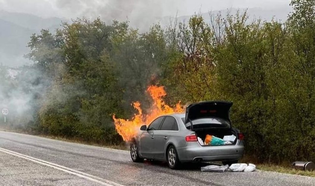Τροχαίο ατύχημα για τον Παναγιώτη Ψωμιάδη - Στις φλόγες τυλίχτηκε το αυτοκίνητό του (φωτό -βίντεο) - Κυρίως Φωτογραφία - Gallery - Video