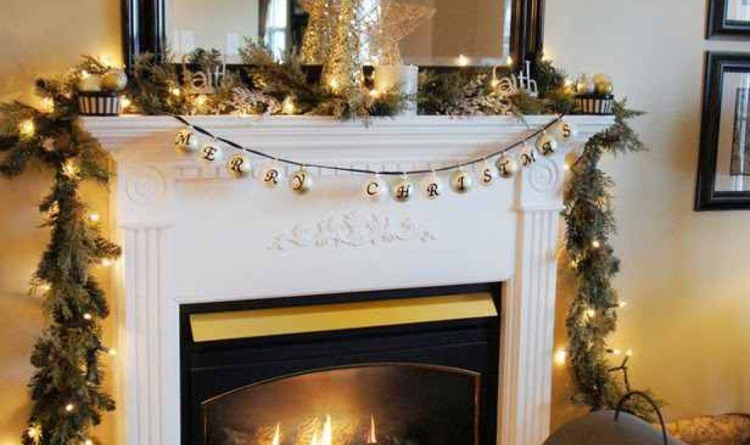 18 μαγικές διακοσμήσεις για παραμυθένια Χριστούγεννα πλάι στο τζάκι: Κόκκινο, χρυσό & πράσινο τα χρώματα της γιορτής με φαντασία! - Κυρίως Φωτογραφία - Gallery - Video