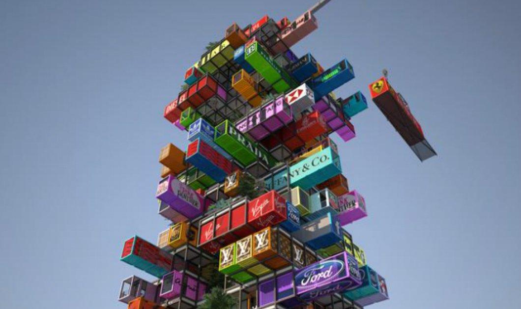 Ένα ξενοδοχείο φτιαγμένο από κοντέινερ - θα μοιάζει με το διάσημο παιχνίδι Jenga αφού τα δωμάτια του θα είναι αποσπώμενα! (φωτό)  - Κυρίως Φωτογραφία - Gallery - Video