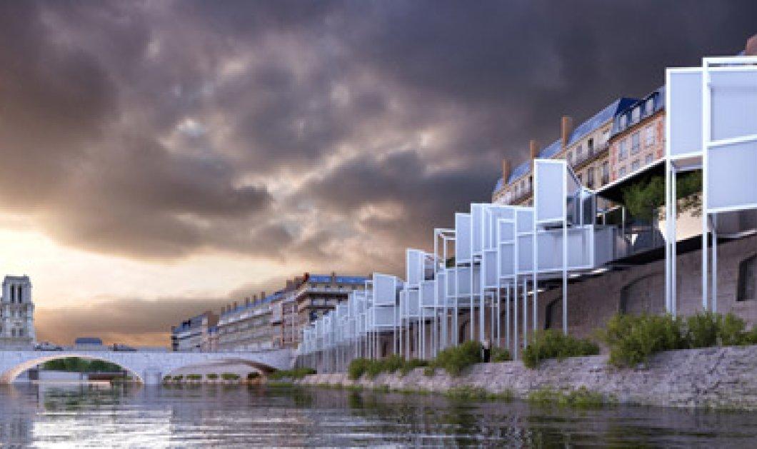 """Ιταλοί αρχιτέκτονες θέλουν να χτίσουν μίνι ξενοδοχεία πάνω στον Σηκουάνα """"αλλιώς το Παρίσι θα γίνει όλο ένα Μουσείο"""" - Δείτε τα σχέδια! - Κυρίως Φωτογραφία - Gallery - Video"""