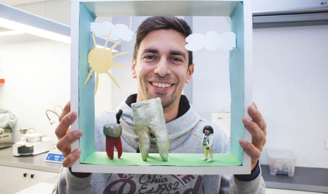 Κατασκευαστής δοντιών Βασίλης Κατσαρός: Kληρονόμησε το ταλέντο του πατέρα του, φτιάχνει δόντια, μασέλες, μασελάκια μπροστά σας ! (Φωτό) - Κυρίως Φωτογραφία - Gallery - Video