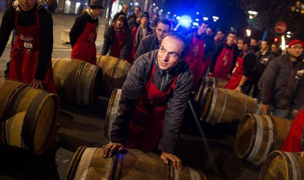 Παγκόσμια γιορτή κρασιού η κυκλοφορία του Beaujolais Nouveau - Κυρίως Φωτογραφία - Gallery - Video
