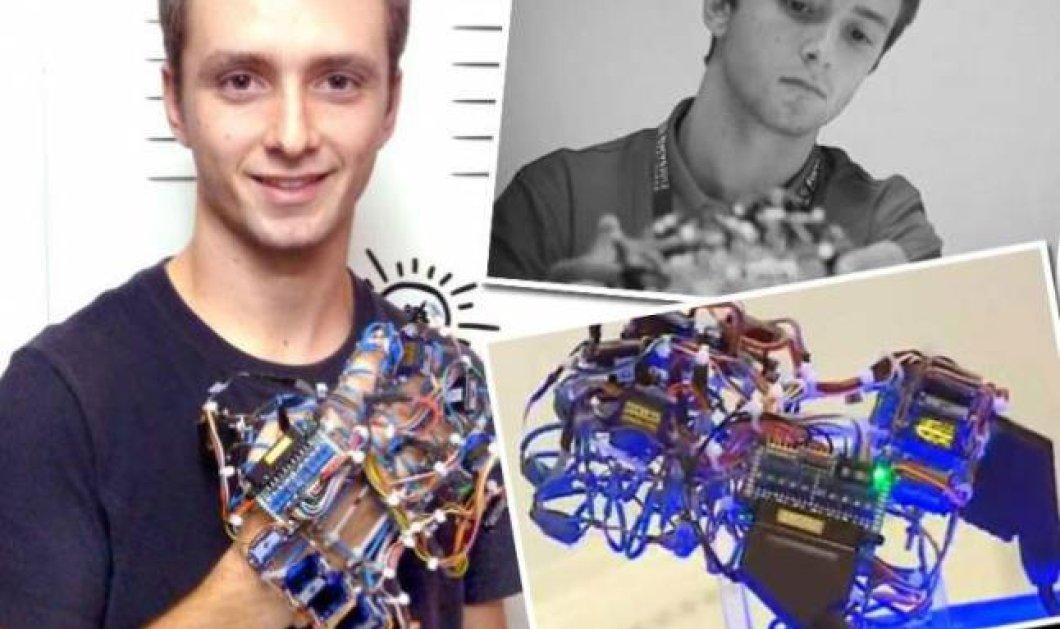Χάρης Ιωάννου: Ο 17χρονος που εφηύρε το τεχνητό γάντι για αναπήρους και βραβεύτηκε με πανευρωπαϊκή διάκριση - Κυρίως Φωτογραφία - Gallery - Video