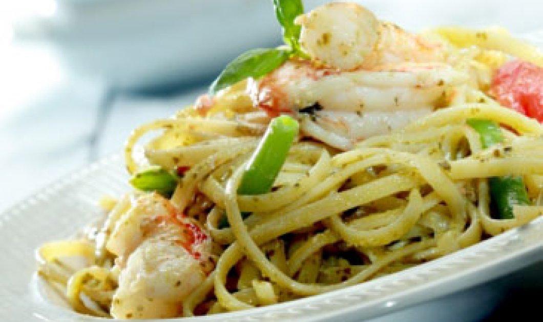 Λιγκουίνι με γαρίδες, πέστο, φασολάκια και ντοματίνια από τα χέρια του Γιάννη Λουκάκου! - Κυρίως Φωτογραφία - Gallery - Video