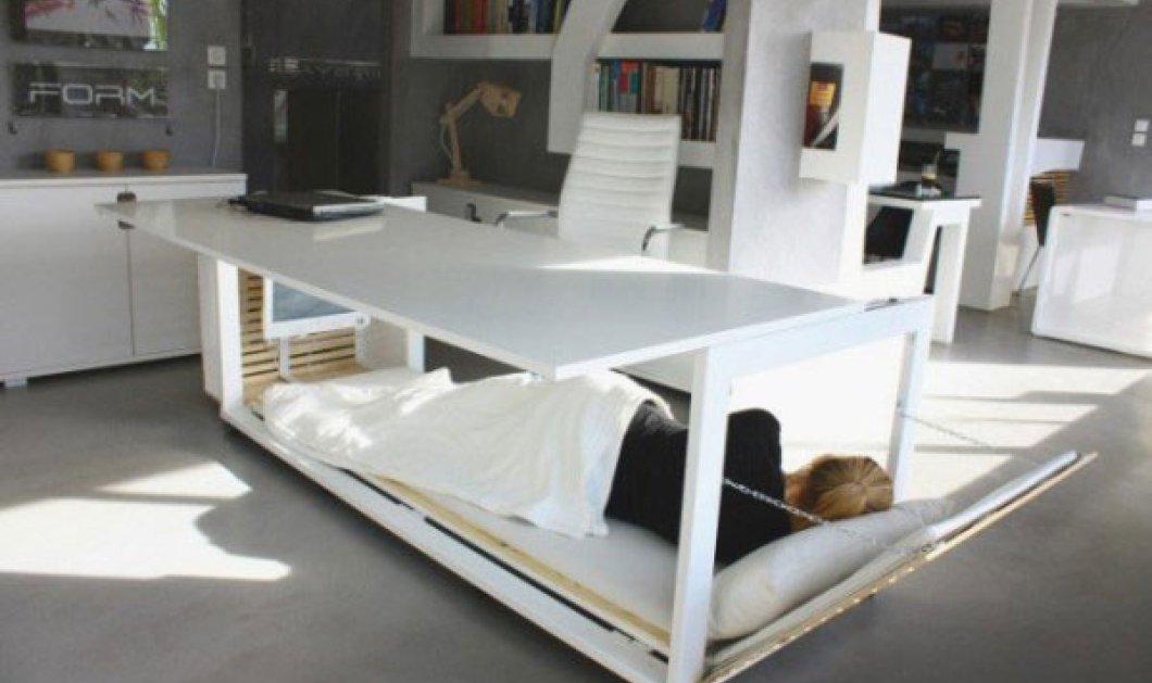 Γραφείο - κρεβάτι για αναζωογόνηση εν ώρα εργασίας! - Κυρίως Φωτογραφία - Gallery - Video