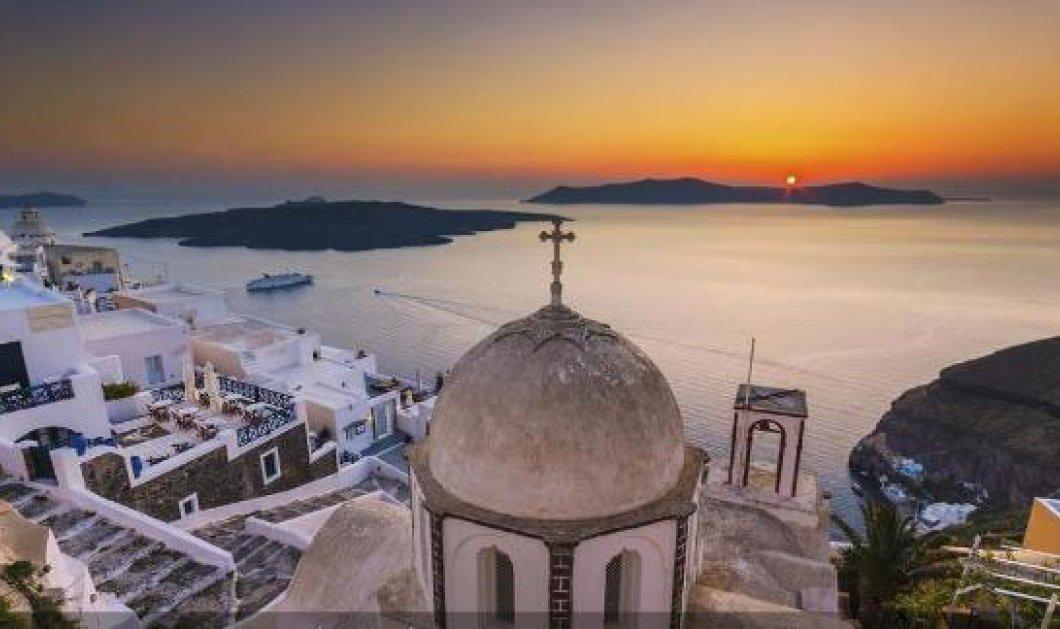 Η φωτογραφία της ημέρας - Μαγικό ηλιοβασίλεμα στην Σαντορίνη! - Κυρίως Φωτογραφία - Gallery - Video