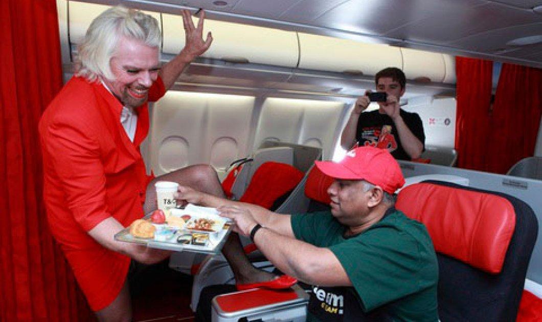 Smile: O Σερ Ρίτσαρντ Μπράνσον ντύθηκε αεροσυνοδός με κόκκινη γόβα για ένα στοίχημα! (βίντεο) - Κυρίως Φωτογραφία - Gallery - Video