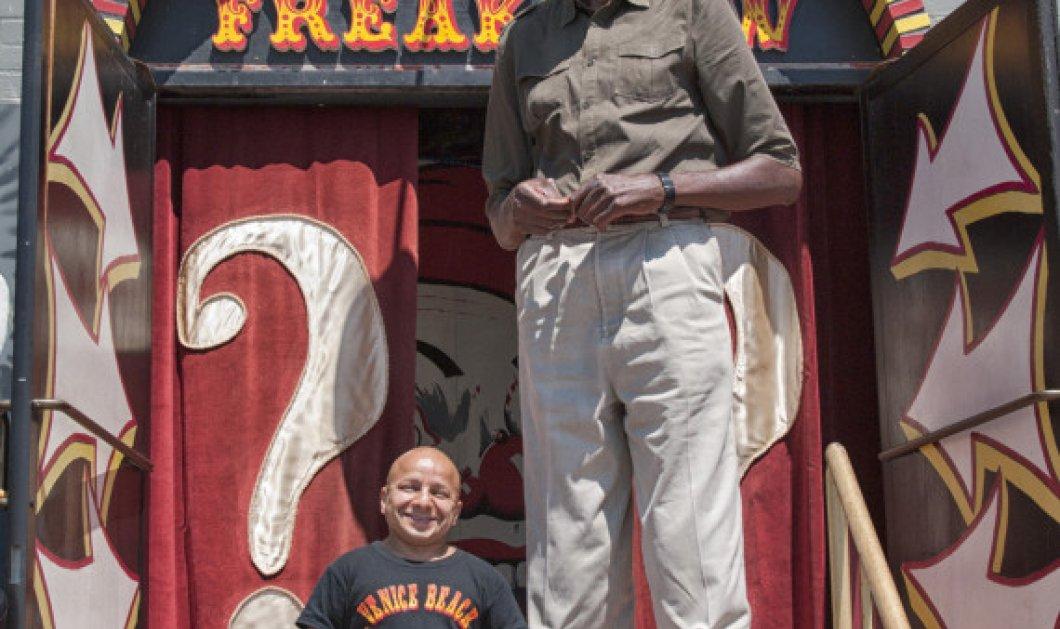 Όταν ο George, ο υψηλότερος Αμερικανός συνάντησε τον Gabriel, τον πιο κοντό (φωτογραφίες) - Κυρίως Φωτογραφία - Gallery - Video