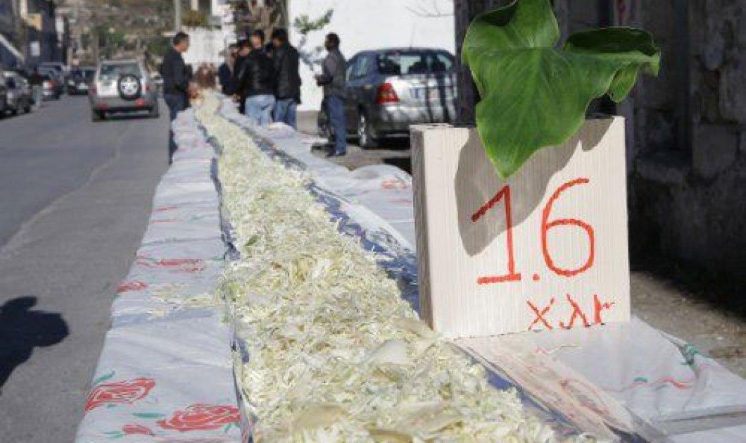 Λαχανοσαλάτα μήκους 2,5 χλμ στην Αγία Βαρβάρα της Κρήτης, πάει για Γκίνες - Κυρίως Φωτογραφία - Gallery - Video