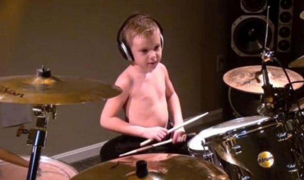 Δείτε τον 6χρονο ντράμερ που ξετρελαίνει το διαδίκτυο (βίντεο) - Κυρίως Φωτογραφία - Gallery - Video