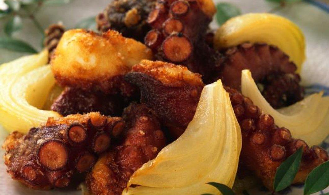 Χταπόδι τραγανό με μπαλσάμικο και μέλι από τον ταλαντούχο σεφ Άκη Πετρετζίκη! - Κυρίως Φωτογραφία - Gallery - Video