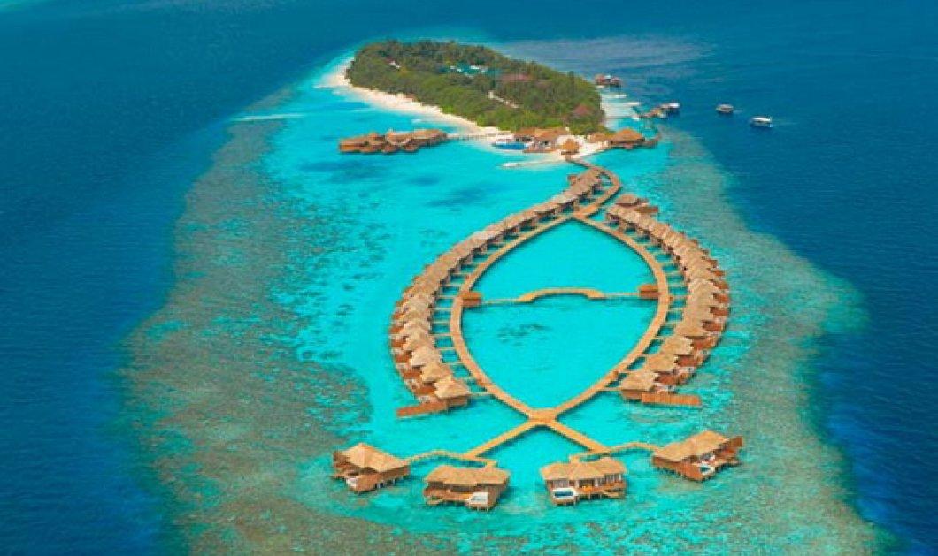 Ο παράδεισος που λέγεται Μαλδίβες από ψηλά με τα ξενοδοχεία -Νησιά να μοιάζουν με θαλάσσιους κήπους (φώτο)  - Κυρίως Φωτογραφία - Gallery - Video