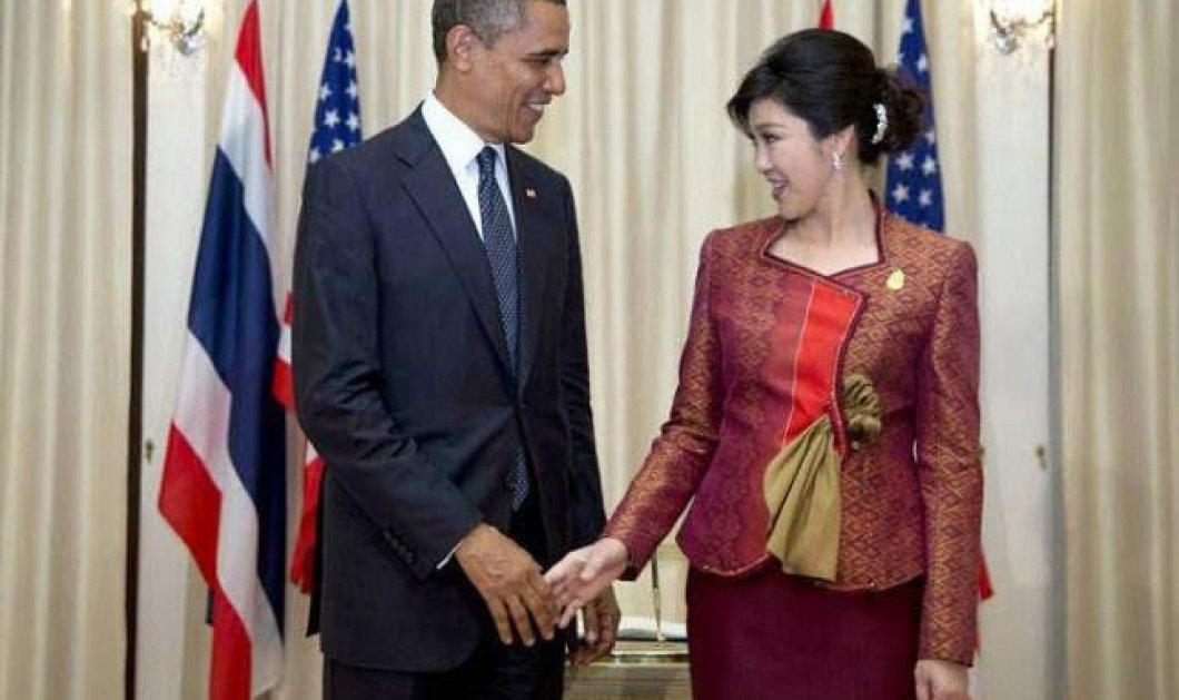 Ατελείωτο Smile: Tο απροκάλυπτο φλερτ του Ομπάμα καρέ καρέ με την κούκλα Πρωθυπουργό της Ταϊλάνδης - Δείτε αντίδραση Μισέλ: ''Θα σε φάω ολόκληρο''...(φωτό) - Κυρίως Φωτογραφία - Gallery - Video