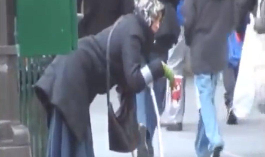Έκαναν... τσακωτή νεαρή ζητιάνα που προσποιείται την ανάπηρη! Δείτε τι κάνει μετά τη «δουλειά» της! (βίντεο) - Κυρίως Φωτογραφία - Gallery - Video