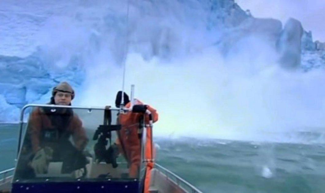 Εντυπωσιακό βίντεο: ρεπόρτερ του BBC γλύτωσαν στο...τσακ από κατάρρευση παγόβουνου ενώ γύριζαν ντοκιμαντέρ - Κυρίως Φωτογραφία - Gallery - Video
