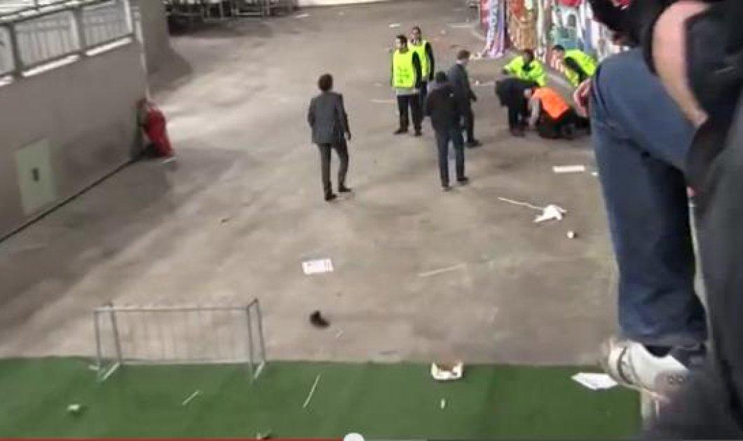 Φίλαθλος του Άγιαξ έπεσε από την κερκίδα και τραυματίστηκε σοβαρά-Εκπληκτική η αντίδραση των υπόλοιπων θεατών, που δεν πανηγύρισαν το γκολ της ομάδας τους (βίντεο) - Κυρίως Φωτογραφία - Gallery - Video