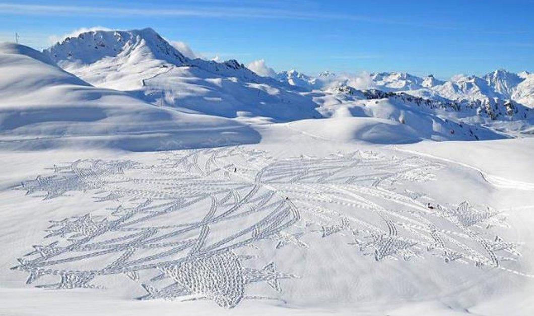 Ελάτε να μείνουμε έκθαμβοι με τα καλλιτεχνήματα πάνω στο χιόνι του Simon Beck ! (φωτό) - Κυρίως Φωτογραφία - Gallery - Video
