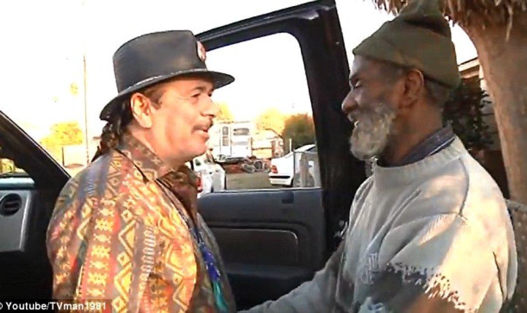 Τον άστεγο ντράμερ του βρήκε μετά από 40 χρόνια ο Κάρλος Σαντάνα-Δείτε την συγκινητική συνάντηση τους (βίντεο) - Κυρίως Φωτογραφία - Gallery - Video