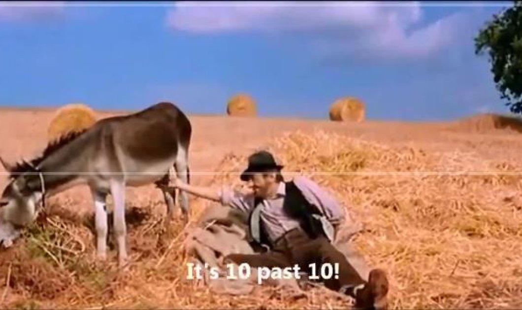 Ξεκαρδιστικό βίντεο: Πως ένας Ιταλός λέει την ώρα...αγγίζοντας έναν γάιδαρο (βίντεο) - Κυρίως Φωτογραφία - Gallery - Video