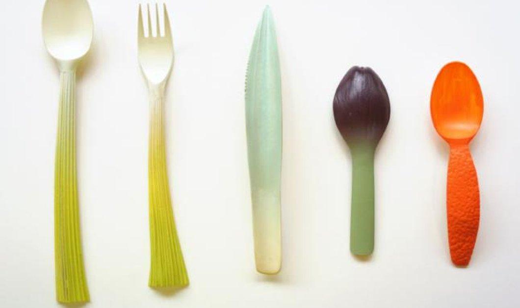 Τι γίνεται όταν τα αναλώσιμα αντικείμενα γίνονται... πολύ όμορφα για να τα πετάξετε; Δείτε πλαστικά μαχαιροπίρουνα - έργα τέχνης, σε σχήματα... λαχανικών και φρούτων! - Κυρίως Φωτογραφία - Gallery - Video