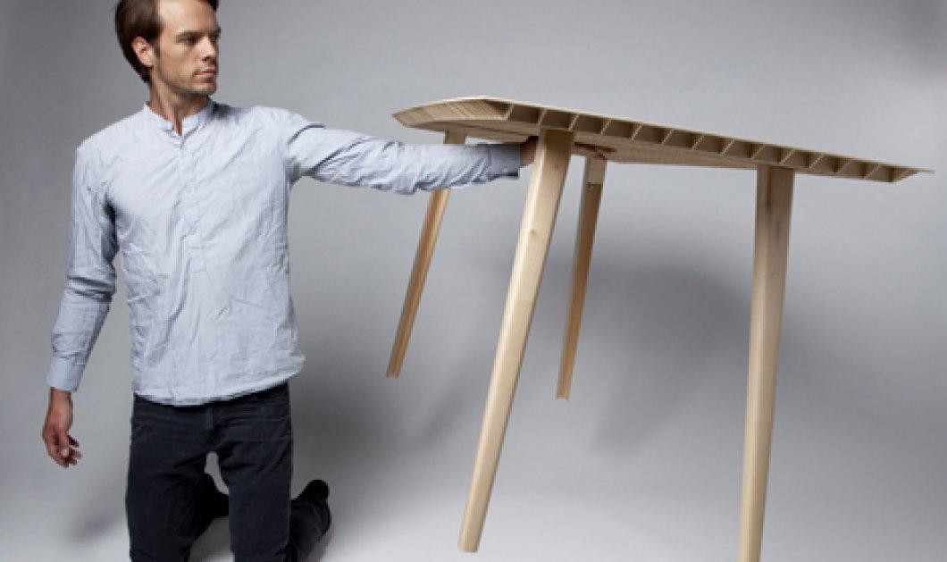 Για δείτε αυτό το ντηζαινάτο τραπέζι που ζυγίζει μόλις 4,5 κιλά και το κρατάει στον αέρα με το ένα χέρι ο δημιουργός του, Ruben Beckers! (φωτό) - Κυρίως Φωτογραφία - Gallery - Video