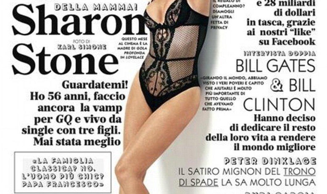 Σαρώνει η Σάρον Στόουν στα 56 της με κορμάκι δαντελωτό, τέλειο κορμί σε εξώφυλλο περιοδικού λίγες μέρες μόνο μετά την είδηση του δεύτερου μίνι εγκεφαλικού της!!! (φωτό) - Κυρίως Φωτογραφία - Gallery - Video