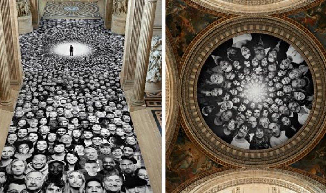 Φωτογραφία της ημέρας: Τα βλέμματα όλου του κόσμου στραμμένα στο Πάνθεον όπου 4.160 πορτραίτα ανώνυμων ανθρώπων εξισώνονται με θεούς  - Κυρίως Φωτογραφία - Gallery - Video