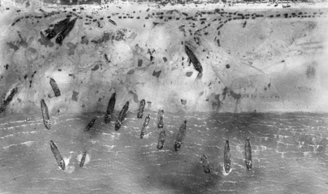 Εκπληκτικές εναέριες φωτογραφίες από την απόβαση της Νορμανδίας: Το «χάος» από τα χιλιάδες πλοία στις ακτές ! (φωτό) - Κυρίως Φωτογραφία - Gallery - Video